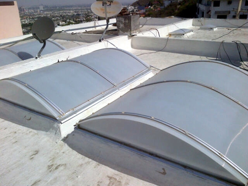 Tempered glass domes